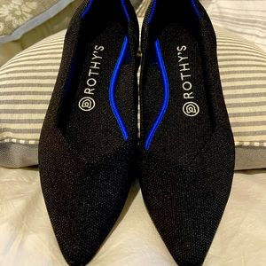 Rothys 'The Point' Flats in Black Solid